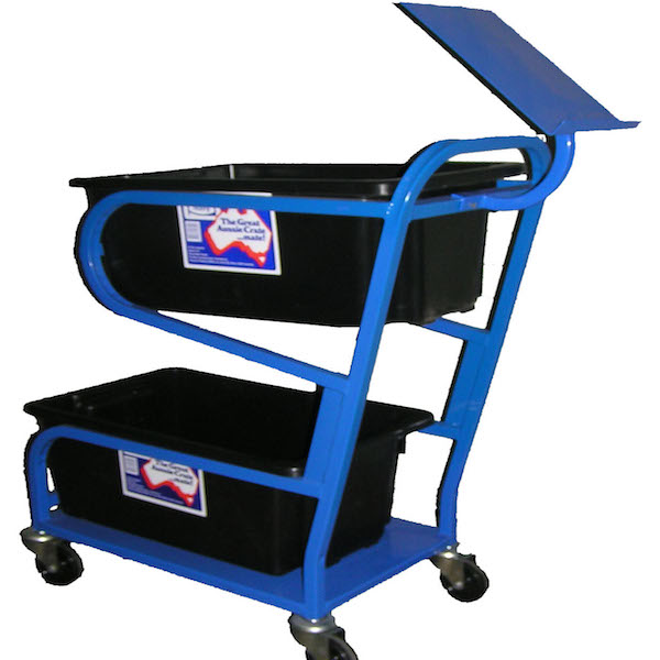 small warehouse trolley doubletub close
