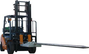 Forklift Carpet Pole (slip on attachment)