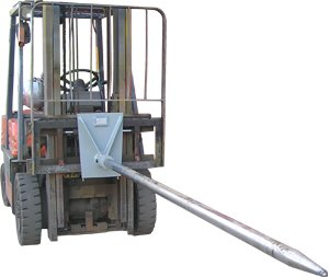Forklift Carpet Pole (carriage mount)