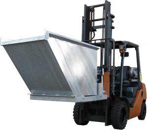 Forklift Tipper Bin OS