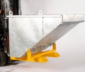 Crane forklift tipper bin