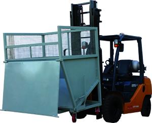 Forklift Recycling Dump Bin