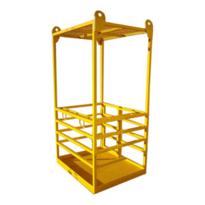 Crane Lift Man Cage with Roof