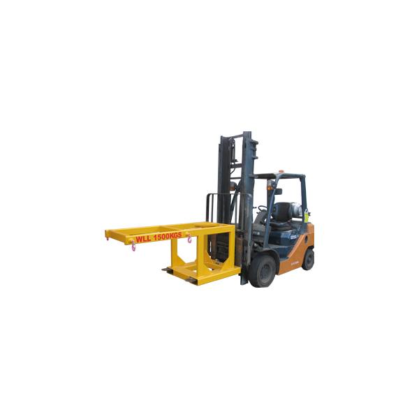 forklift bulk bag lifter raised