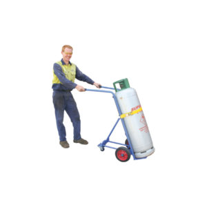Single Cylinder Gas Bottle Trolley (support wheels)