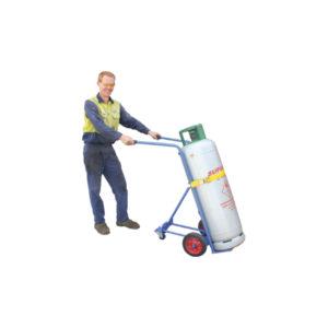 Single Cylinder Gas Bottle Trolley (support wheels)