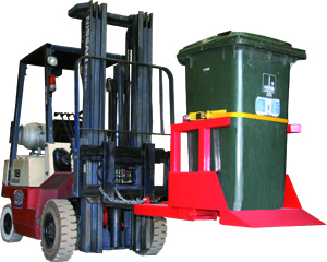 Forklift Single Wheelie Bin Tipper