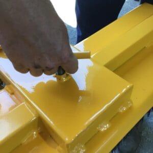 Bremco Forklift Broom attachment-close up of attachment