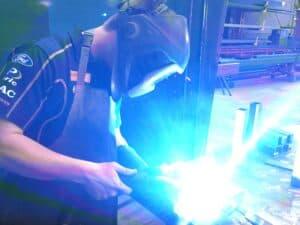 Man welding in Bremco workshop