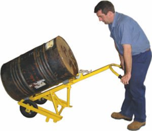 Drum Trolley with Rack to reduce common workplace injuries