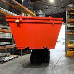 Dumpmaster Crane Lift Bin being lifted