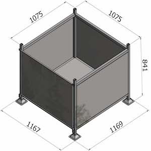 Pallet Cage G70 - Sheet Metal Sides