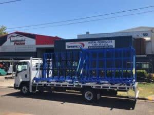 Bremco steel stillages on truck