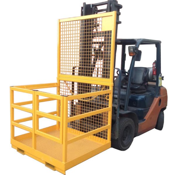 Forklift Safety Cage with Rail Sides