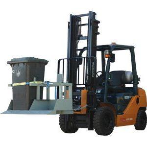 Forklift Wheelie Bin Tipper - 2 Bin Tipper